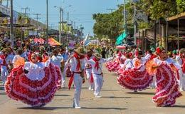 Φεστιβάλ καρναβαλιού παρελάσεων του Barranquilla Atlantico Κολομβία στοκ εικόνα