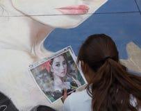 Φεστιβάλ κιμωλίας του Πασαντένα Στοκ εικόνα με δικαίωμα ελεύθερης χρήσης
