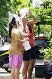 φεστιβάλ νέο έτος ύδατος songkarn ταϊλανδικό Στοκ εικόνα με δικαίωμα ελεύθερης χρήσης