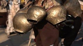 Φεστιβάλ της μεταμφίεσης Surva σε αργή κίνηση απόθεμα βίντεο
