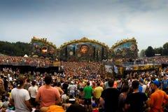 Φεστιβάλ της μουσικής στην Ταϊλάνδη μοντέρνες σύγχρονες τάσεις στην υπαίθρια μουσική για όλους τους ανθρώπους Στοκ εικόνες με δικαίωμα ελεύθερης χρήσης