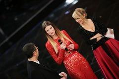 Φεστιβάλ του ιταλικού τραγουδιού, Sanremo 2013 Στοκ φωτογραφίες με δικαίωμα ελεύθερης χρήσης