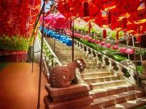 Φεστιβάλ φαναριών Lotus στο ναό Samgwangsa, Busan, Νότια Κορέα, Ασία στοκ φωτογραφίες