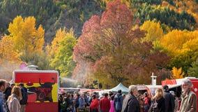 Φεστιβάλ φθινοπώρου σε Arrowtown Νέα Ζηλανδία 19η την 25η Απριλίου 2018 Στοκ φωτογραφίες με δικαίωμα ελεύθερης χρήσης