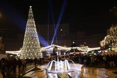 Φεστιβάλ χριστουγεννιάτικων δέντρων και τροφίμων στοκ φωτογραφίες