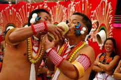 φεστιβάλ hornbill Ινδία nagaland στοκ εικόνα