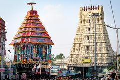 Φεστιβάλ Ther Varadharajar Kanchipuram στοκ εικόνες