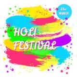 Φεστιβάλ άνοιξη Holi των χρωμάτων Στοκ φωτογραφίες με δικαίωμα ελεύθερης χρήσης