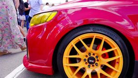 Φεστιβάλ αυτοκινήτων στην πόλη της Τούλα Ρωσική Ομοσπονδία Καλοκαίρι 2015 απόθεμα βίντεο