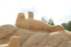 Φεστιβάλ γλυπτών άμμου σε Lappeenranta Στοκ φωτογραφίες με δικαίωμα ελεύθερης χρήσης