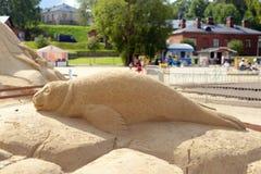 Φεστιβάλ γλυπτών άμμου σε Lappeenranta Στοκ φωτογραφία με δικαίωμα ελεύθερης χρήσης