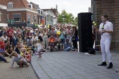 Φεστιβάλ θεάτρων οδών σε Doetinchem, οι Κάτω Χώρες την 1η Ιουλίου Στοκ φωτογραφία με δικαίωμα ελεύθερης χρήσης