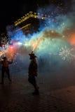 Φεστιβάλ θεάτρων οδών στην Κρακοβία Στοκ Εικόνα