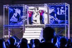 Φεστιβάλ θεάτρων οδών στην Κρακοβία Στοκ Φωτογραφία