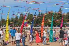 Φεστιβάλ ικτίνων στη Αγία Πετρούπολη Στοκ Φωτογραφία