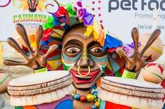 Φεστιβάλ καρναβαλιού παρελάσεων του Barranquilla Atlantico Κολομβία στοκ φωτογραφίες