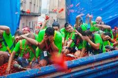 Φεστιβάλ Λα Tomatina στοκ φωτογραφίες με δικαίωμα ελεύθερης χρήσης