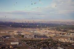 Φεστιβάλ μπαλονιών ζεστού αέρα του Αλμπικέρκη Στοκ Εικόνες
