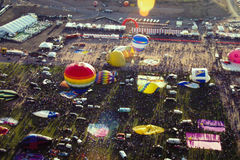 Φεστιβάλ μπαλονιών ζεστού αέρα του Αλμπικέρκη Στοκ φωτογραφία με δικαίωμα ελεύθερης χρήσης