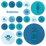 Φεστιβάλ μπύρας Oktoberfest Έγχρωμη εικονογράφηση Στοκ φωτογραφία με δικαίωμα ελεύθερης χρήσης