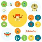 Φεστιβάλ μπύρας Oktoberfest Έγχρωμη εικονογράφηση Στοκ φωτογραφίες με δικαίωμα ελεύθερης χρήσης