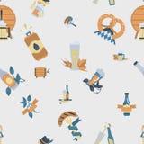 Φεστιβάλ μπύρας Oktoberfest Έγχρωμη εικονογράφηση Στοκ Εικόνες