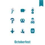 Φεστιβάλ μπύρας Oktoberfest Έγχρωμη εικονογράφηση Στοκ Εικόνα