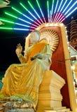 Φεστιβάλ ναών σε έναν βουδιστικό ναό σε Nakhonpathom, Ταϊλάνδη Στοκ Εικόνες