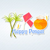 Φεστιβάλ νότιας ινδικό συγκομιδής, ευτυχείς εορτασμοί Pongal διανυσματική απεικόνιση