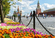Φεστιβάλ λουλουδιών στην κόκκινη πλατεία στη Μόσχα Στοκ εικόνες με δικαίωμα ελεύθερης χρήσης
