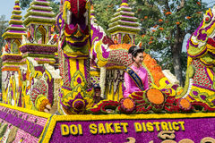 Φεστιβάλ λουλουδιών της Mai Chiang, Ταϊλάνδη Στοκ Φωτογραφίες