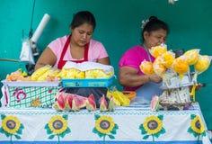 Φεστιβάλ λουλουδιών & φοινικών σε Panchimalco, Ελ Σαλβαδόρ Στοκ εικόνες με δικαίωμα ελεύθερης χρήσης