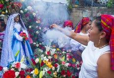 Φεστιβάλ λουλουδιών & φοινικών σε Panchimalco, Ελ Σαλβαδόρ Στοκ φωτογραφίες με δικαίωμα ελεύθερης χρήσης