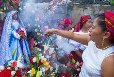 Φεστιβάλ λουλουδιών & φοινικών σε Panchimalco, Ελ Σαλβαδόρ Στοκ Φωτογραφίες