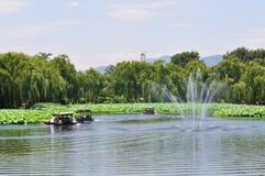 Φεστιβάλ λουλουδιών Lotus στο πάρκο Yuanmingyuan Στοκ Φωτογραφία