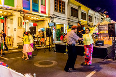 Φεστιβάλ οδών περπατήματος πόλης νύχτας Phuket Στοκ Φωτογραφίες