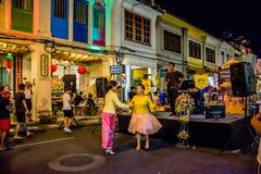 Φεστιβάλ οδών περπατήματος πόλης νύχτας Phuket Στοκ Εικόνες
