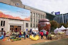 Φεστιβάλ πολιτισμού Kimchi στην πλατεία της Σεούλ στοκ εικόνες με δικαίωμα ελεύθερης χρήσης