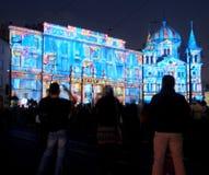 Φεστιβάλ πόλεων του Λοντζ του φωτός στοκ εικόνα
