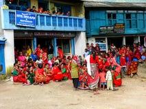 Φεστιβάλ στο κύκλωμα Bahundanda - Annapurna - Νεπάλ Στοκ Εικόνα