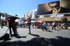 Φεστιβάλ ταινιών των Καννών, ατμόσφαιρα Στοκ εικόνα με δικαίωμα ελεύθερης χρήσης