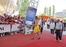 Φεστιβάλ 2011 ταινιών Al Giffoni της Hilary Swank στοκ εικόνα με δικαίωμα ελεύθερης χρήσης