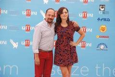 Φεστιβάλ 2015 ταινιών Al Giffoni του Maurizio Casagrande ε Annalisa Scarrone Στοκ Εικόνα