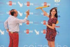 Φεστιβάλ 2015 ταινιών Al Giffoni του Maurizio Casagrande ε Annalisa Scarrone Στοκ φωτογραφίες με δικαίωμα ελεύθερης χρήσης