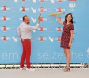 Φεστιβάλ 2015 ταινιών Al Giffoni του Maurizio Casagrande ε Annalisa Scarrone Στοκ Εικόνες