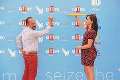 Φεστιβάλ 2015 ταινιών Al Giffoni του Maurizio Casagrande ε Annalisa Scarrone Στοκ φωτογραφία με δικαίωμα ελεύθερης χρήσης