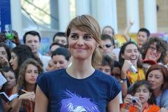 Φεστιβάλ 2011 ταινιών Al Giffoni Cortellesi Paola στοκ φωτογραφία με δικαίωμα ελεύθερης χρήσης