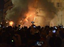 Φεστιβάλ της πυρκαγιάς στη Βαλένθια Στοκ εικόνες με δικαίωμα ελεύθερης χρήσης