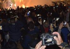 Φεστιβάλ της πυρκαγιάς στη Βαλένθια Στοκ φωτογραφία με δικαίωμα ελεύθερης χρήσης