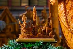 Φεστιβάλ της Ταϊλάνδης αγαλμάτων κεριών Στοκ εικόνα με δικαίωμα ελεύθερης χρήσης